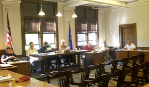 Ashland County Zoning Committee holding a public hearing for the new Metallic Mining Zoning Ordinance, which passed 18 to 1.