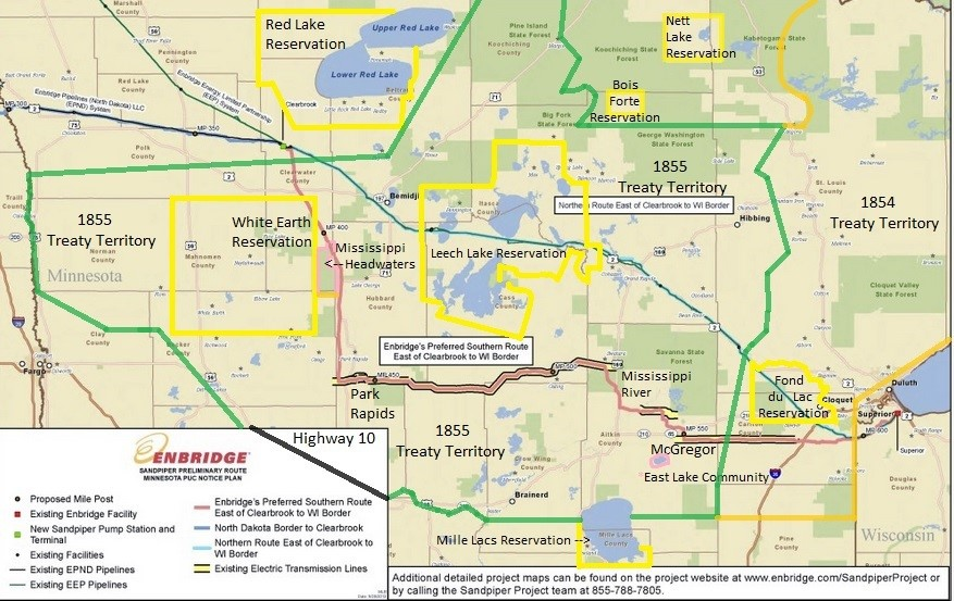 Minnesota And Wisconsin Pipeline Resistance Drives Enbridge To - Map of minnesota and wisconsin