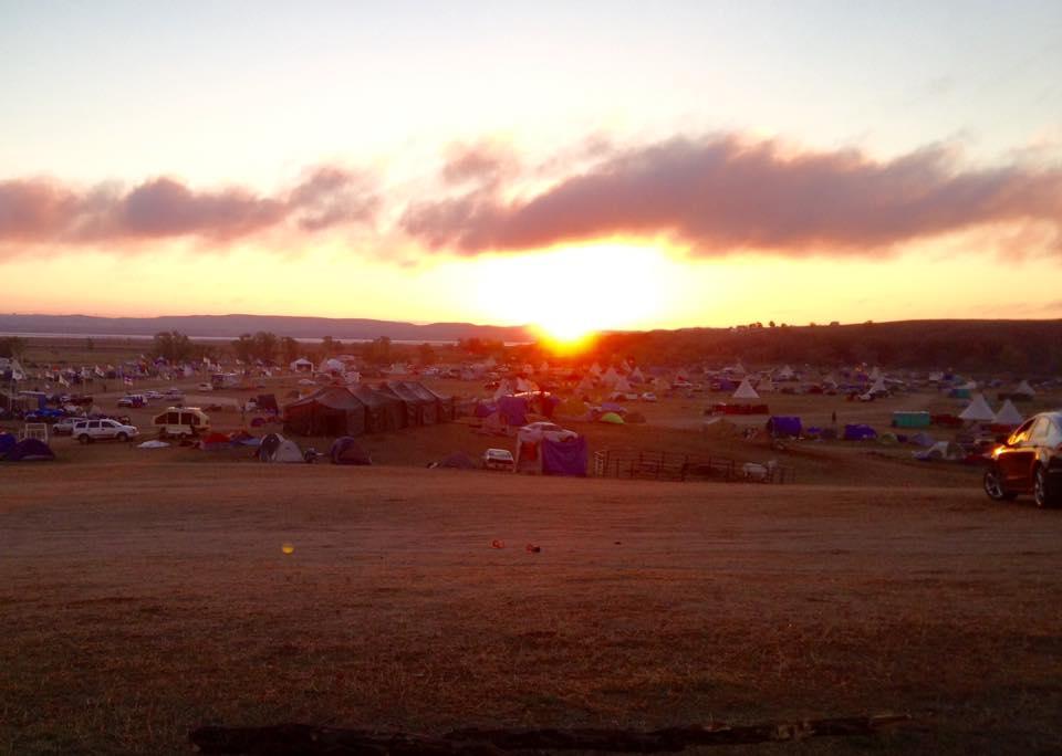 Sunrise at Sacred Stone Camp. Photo: Rebecca Kemble